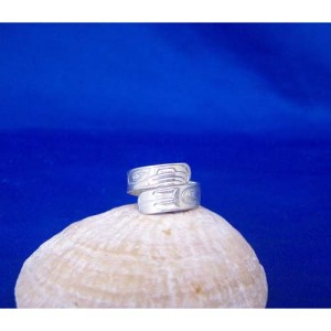 Silver Eagle Wrap Ring by Dere White