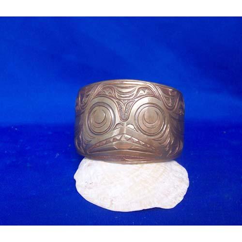Copper Dogfish Bracelet by Donnie Edenshaw