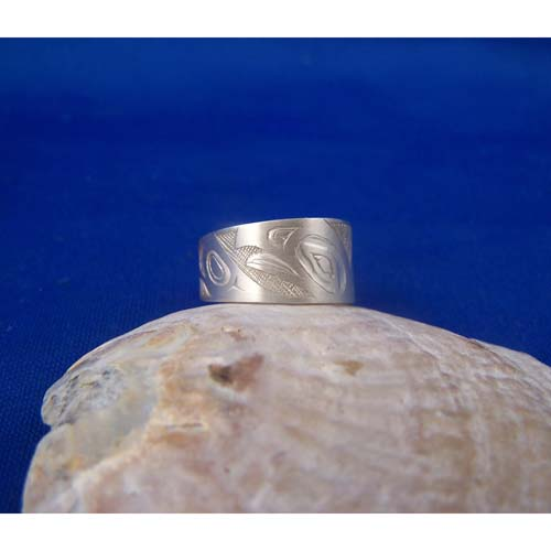 Silver Raven Ring by Fred Wilson