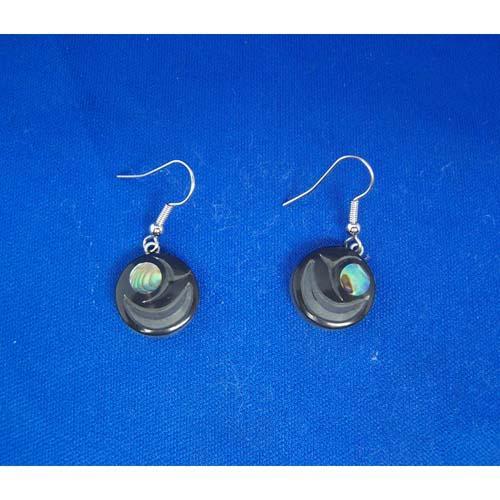 Argillite Salmon Egg Earrings by Myles Edgars
