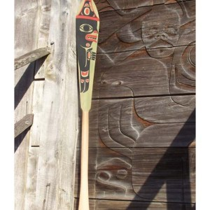 Red Cedar Man & Eagle Paddle by Shaun Edgars