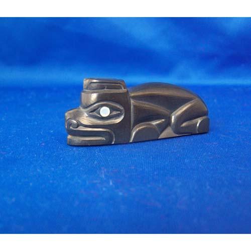 Shaun Egars Argillite Bear Sculpture