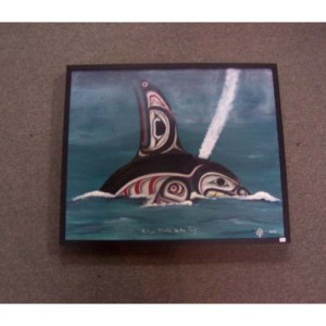 Original Acrylic Killer Whale by Theodore Bell