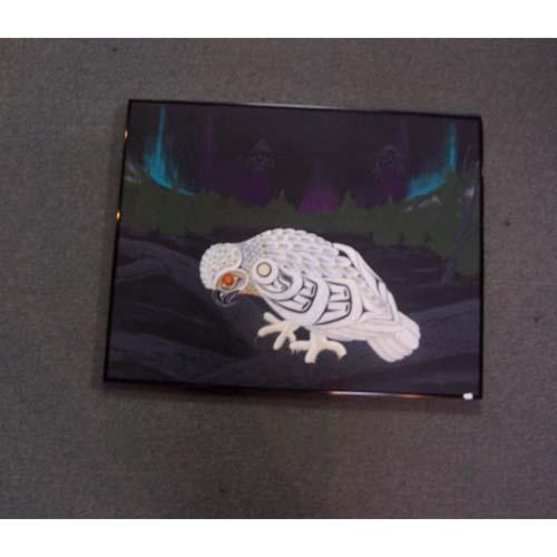 Snowy Owl Original Acrylic by Theodore Bell