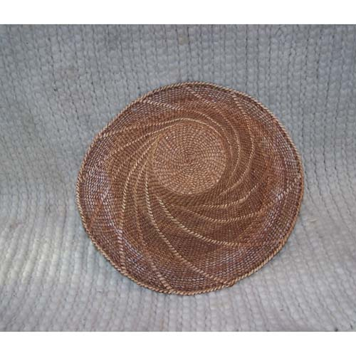 #12 Red & Yellow Cedar Bark Hat by Dorcas Bell Whitew