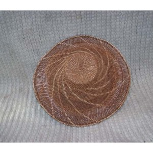 #12 Red & Yellow Cedar Bark Hat by Dorcas Bell Whitew