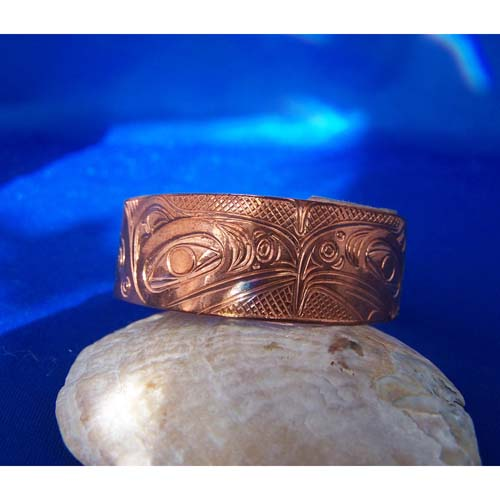 Copper Eagle Raven Bracelet by Neil Goertzen