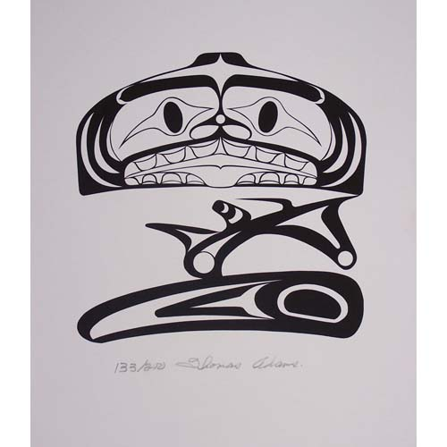 Dogfish Print by Thomas Adams
