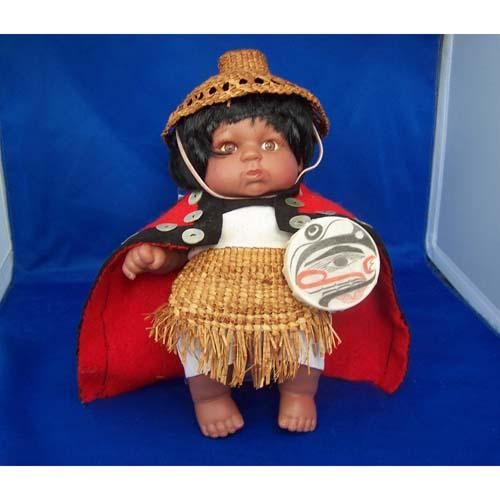 Haida Doll with Regalia by Brenda Edenshaw