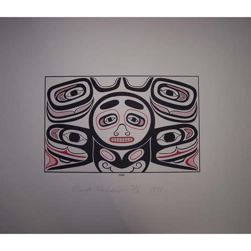 Killer Whale Box Design Print by Claude Davidson