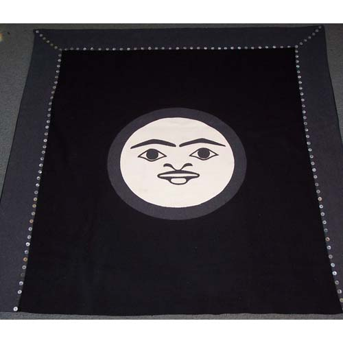 Moon Design Button Blanket by Natasha Wilson