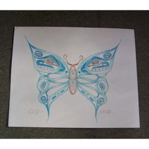 Original Drawing of Butterfly by David Jones