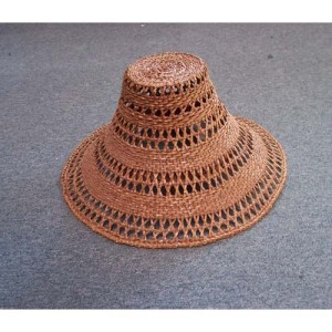 Red Cedar Hat Open Weave by Maxine Edgars