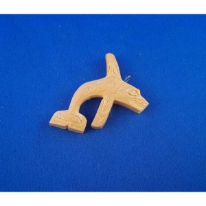 Red Cedar Killer Whale Pendant by Leon Ridley