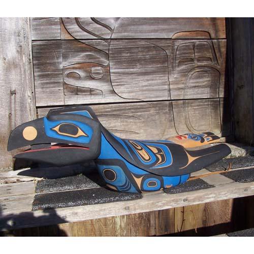 Red Cedar Raven Helmet by Alan Weir