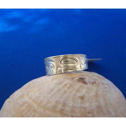 Silver Bear Side View Ring by Carmen Goertzen