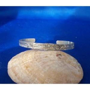 Silver Eagle Whale Bracelet by Neil Goertzen