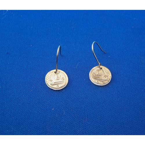 Silver Frog Earrings by Neil Goertzen