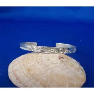 Silver Frog Raven Bracelet by Neil Goertzen