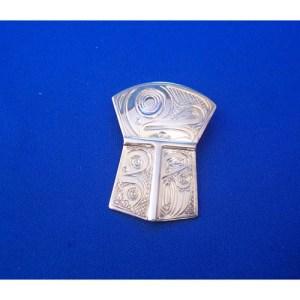 Silver Frog Sheild Pendant by Neil Goertzen