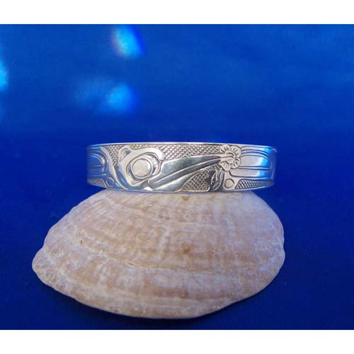 Silver Hummingbird Bracelet by Carmen Goertzen