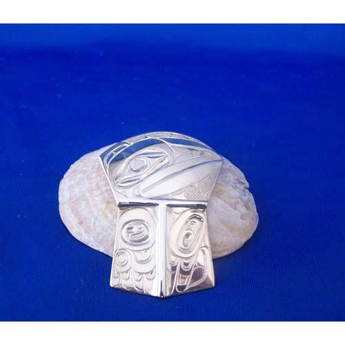 Silver Raven Shield Pendant by David Jones