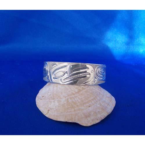 Silver Thunderbird Bracelet by Carmen Goertzen