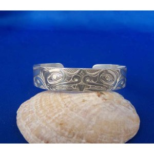 Silver Wolf Bracelet by Neil Goertzen