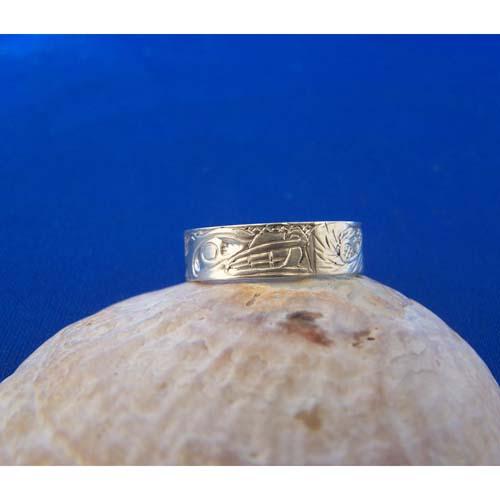 Silver Wolf Ring by Carmen Goertzen