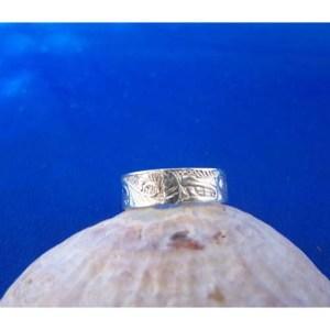Silver Wolf Solid Ring by Carmen Goertzen