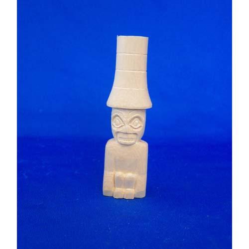 Yelllow Cedar Watchman Totem by Leon Ridley