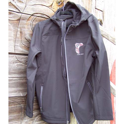 Black Hood Jacket Front View by Cooper Wilson