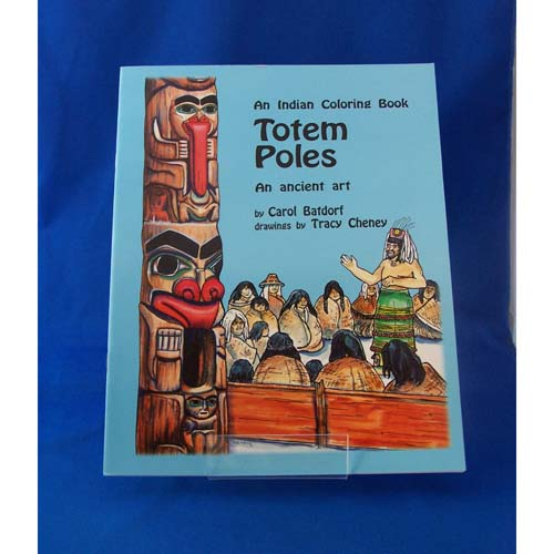 Book-An Indian Coloouring Book Totempoles