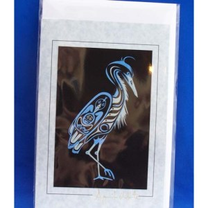 Card-Blue Heron 3 by April White