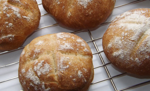 Crusty White Bread Rolls