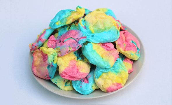40 Second Rainbow Meringues
