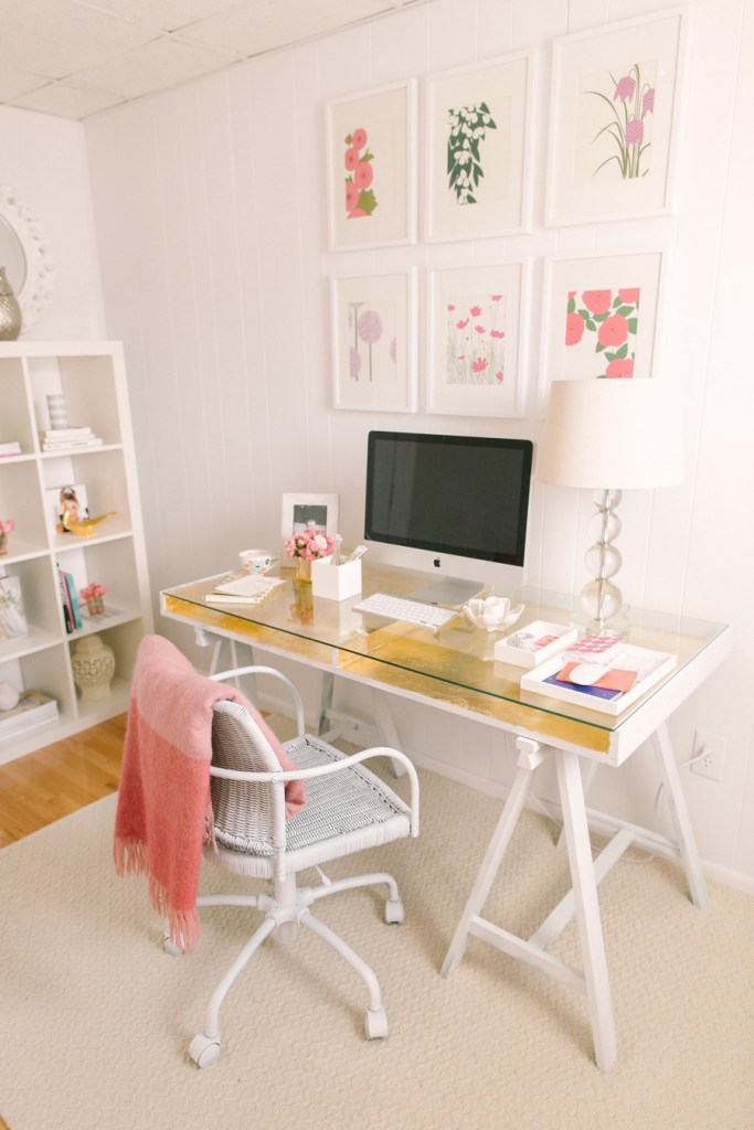 Glam Office Makeover:Gold Leaf Desk || Sarah Sofia Productions