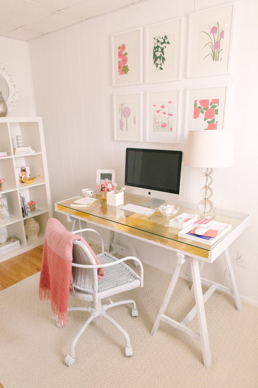 Gold Leaf Desk || Sarah Sofia Productions