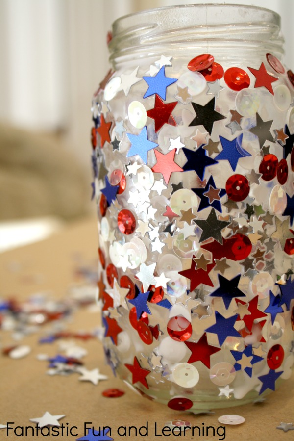 Let's Celebrate Red White and Blue. Sarah Sofia Productions. Kids Crafts and Party Decor