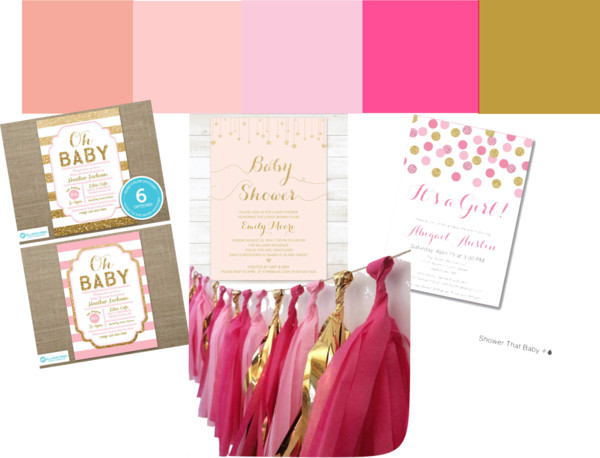 Elegant and Glam Pink + Gold Baby Shower Color Pallet || Sarah Sofia Productions
