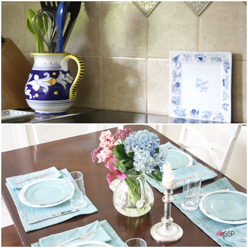 Blue and White Kitchen Makeover Sarah Sofia Productions