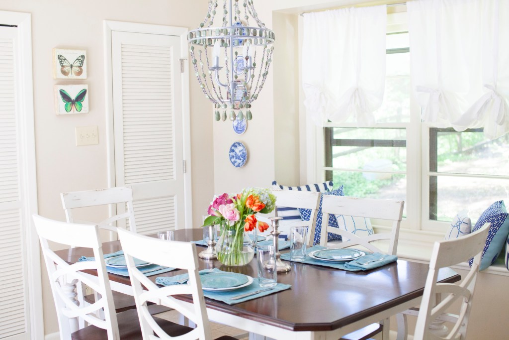 Blue and White Kitchen Makeover || Sarah Productions