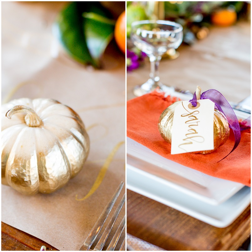 Thanksgiving Inspiration DIY Pumpkin Place Cards Sarah Sofia Productions
