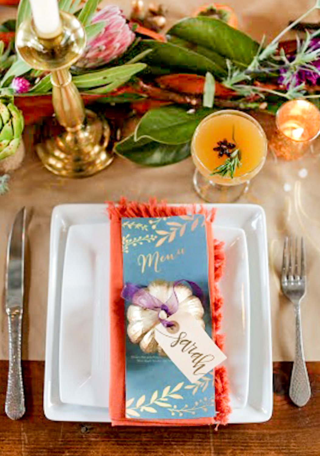 Thanksgiving Inspiration DIY Pumpkin Place Cards
