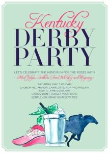 Kentucky Derby Invitation Sarah Sofia Productions