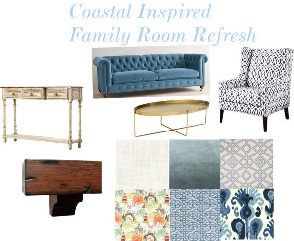 Family Room Refresh Inspiration via Sarah Sofia Productions