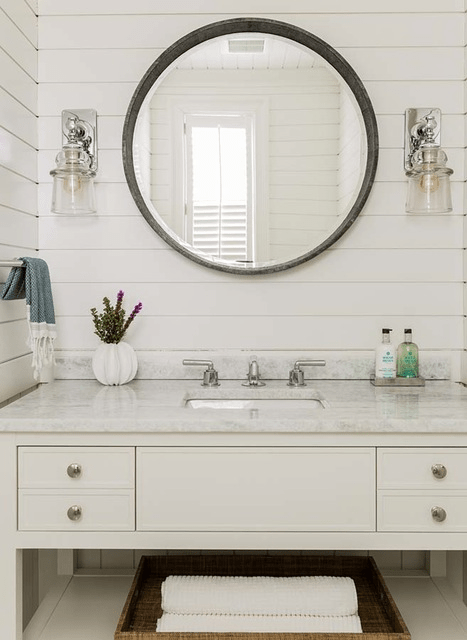 Coastal Bathroom Refresh Inspiration via Sarah Sofia Productions