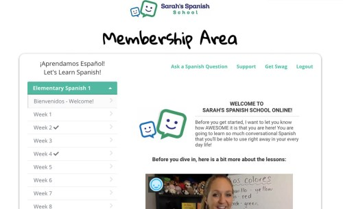 small resolution of Elementary Spanish 1 - Sarah's Spanish School