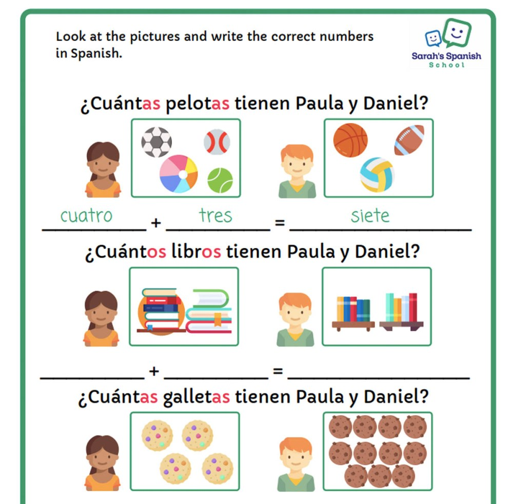 medium resolution of Elementary Spanish 1 - Sarah's Spanish School