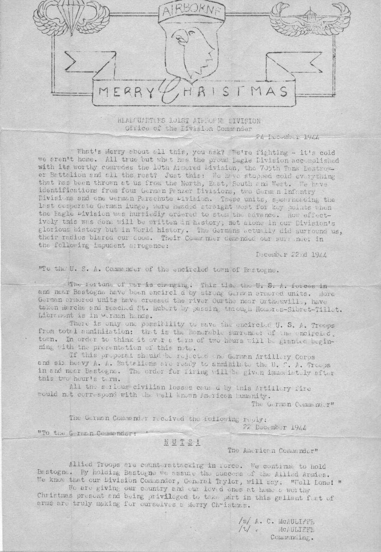 Today in World War II History—December 22, 1939 & 1944